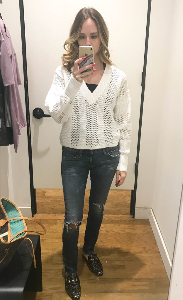 White spring sweater
