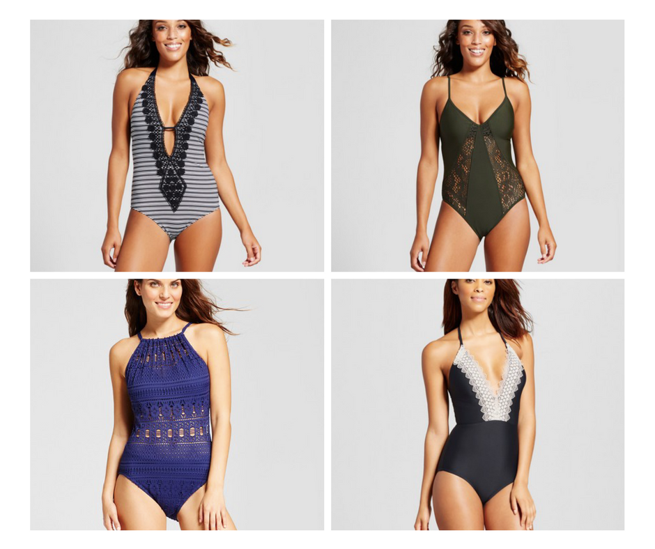 full piece bathing suits from Target